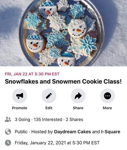 Snowflakes and Snowmen Cookie Class